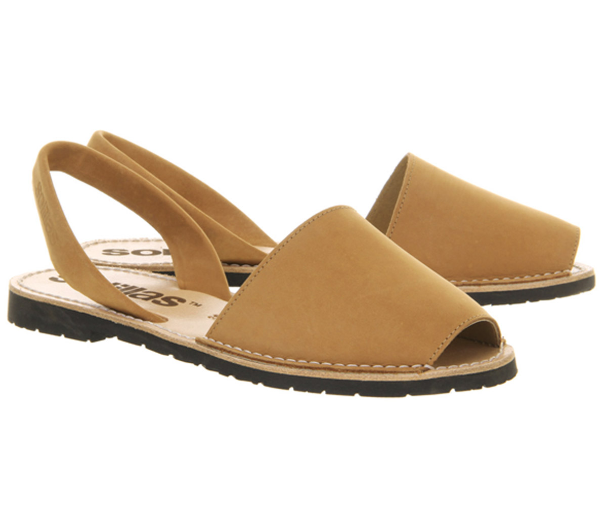 Womens-Solillas-Solillas-Sandals-Tan-Leather-Sandals thumbnail 13
