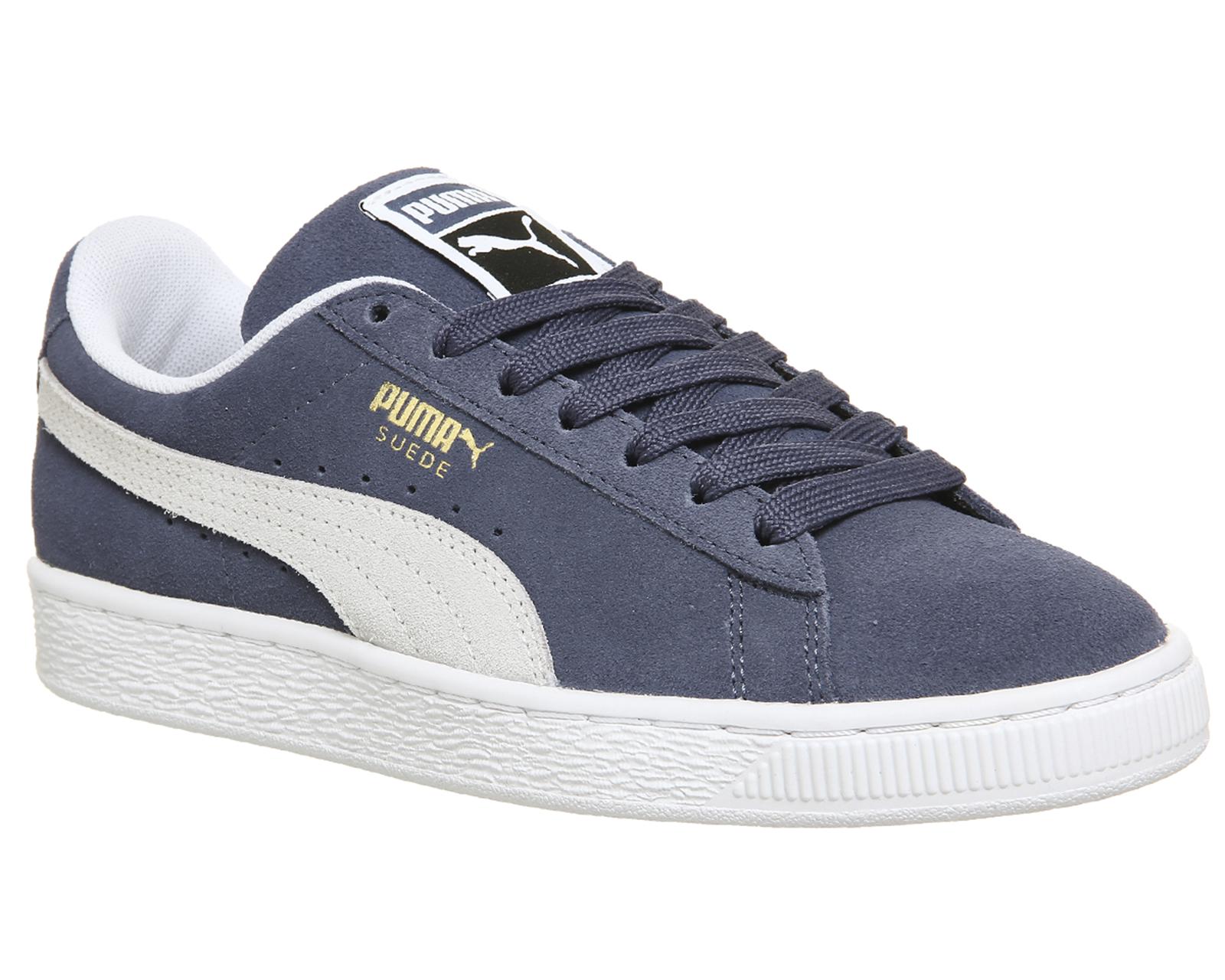 Da Uomo Puma Suede Classic Scarpe da ginnastica grigio cenere scarpe da ginnastica Puma bianco