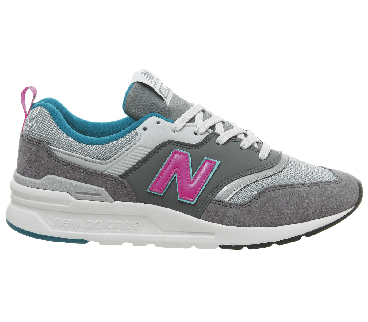 New-Balance-997-Trainers-Castlerock-Peony-Trainers-Shoes thumbnail 3