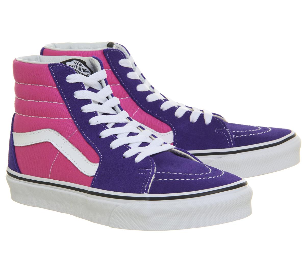 a256967f8 Zapatillas para mujer Vans Sk8 Hi Azul Profundo Rosa Caliente ...