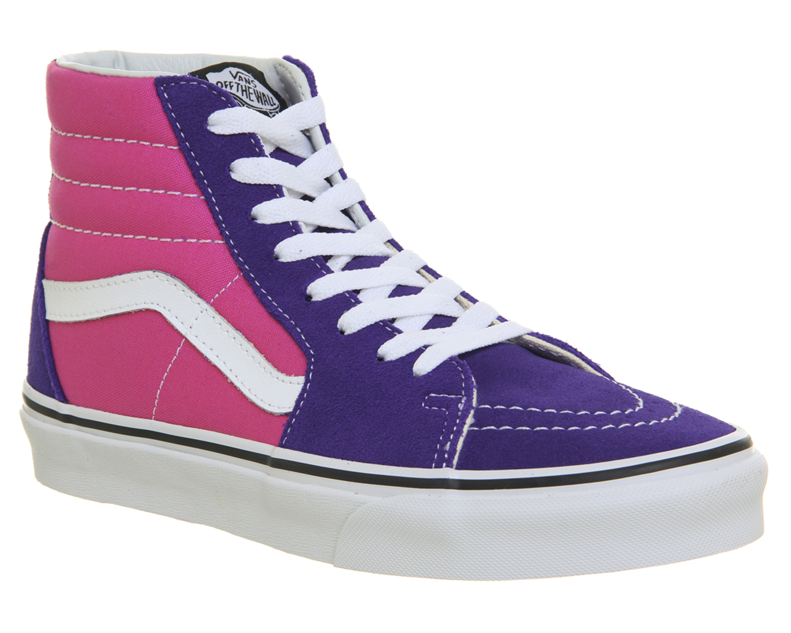 bb917024d290 Sentinel Womens Vans Sk8 Hi Trainers Deep Blue Hot Pink Trainers Shoes