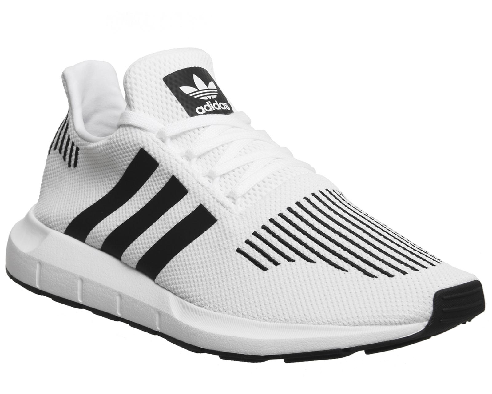 Da Uomo Adidas Swift Core Grigio Scarpe Da Ginnastica Run Scarpe Da Ginnastica Nero