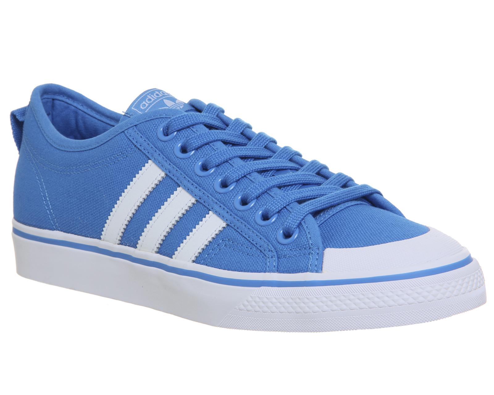 more photos d71dc fd5f4 ... Adidas Adidas Adidas Nizza Zapatillas Azul Brillante Zapatillas  Deportivas b8051b ...