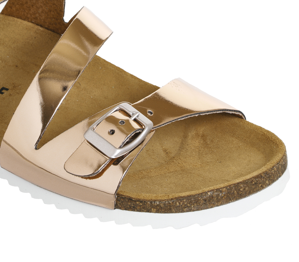 999e9fa12e11 Womens OFFICE Bounty Cross Strap Footbed Rose Gold Sandals UK 6. About this  product. Picture 1 of 4  Picture 2 of 4  Picture 3 of 4  Picture 4 of 4