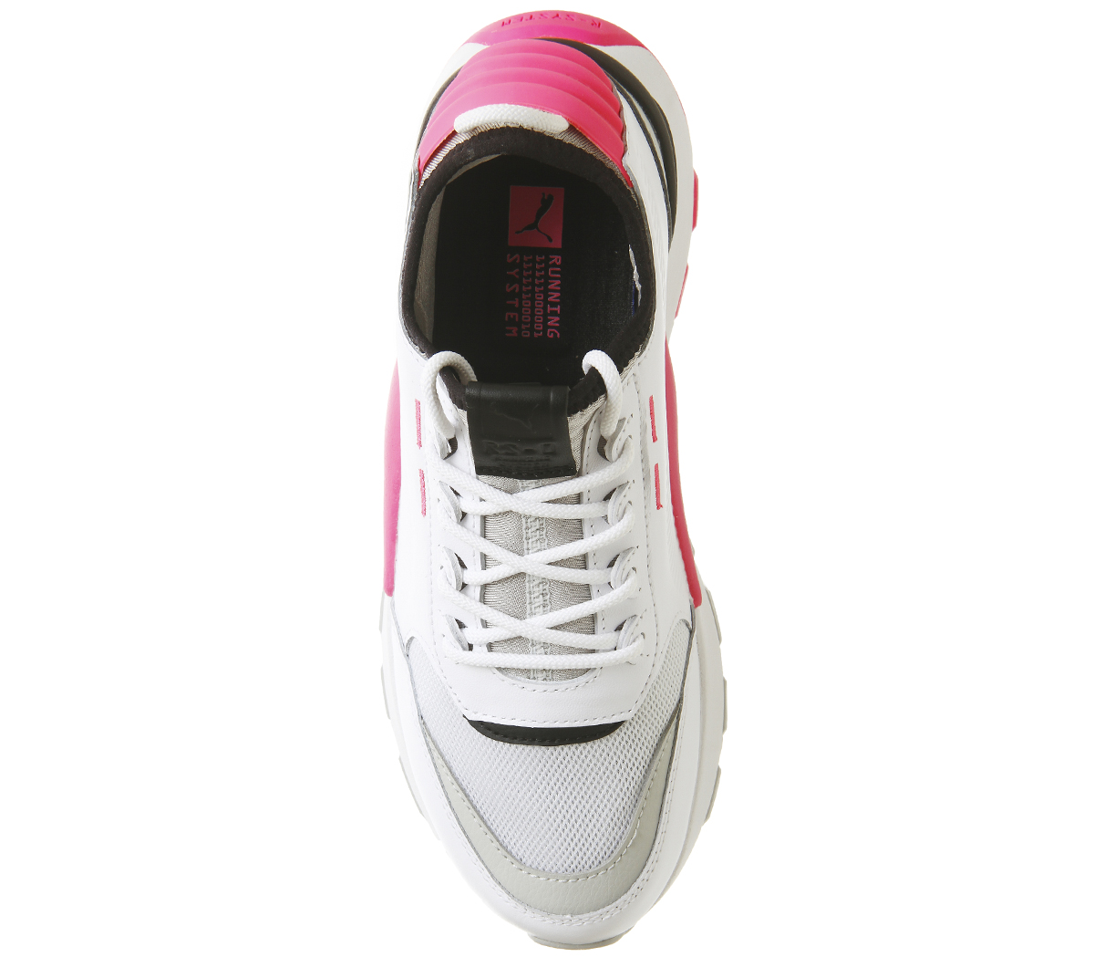 5241283d4ca Sentinel Womens Puma Rs-0 Sound Trainers Puma White Grey Knockout Pink  Trainers Shoes