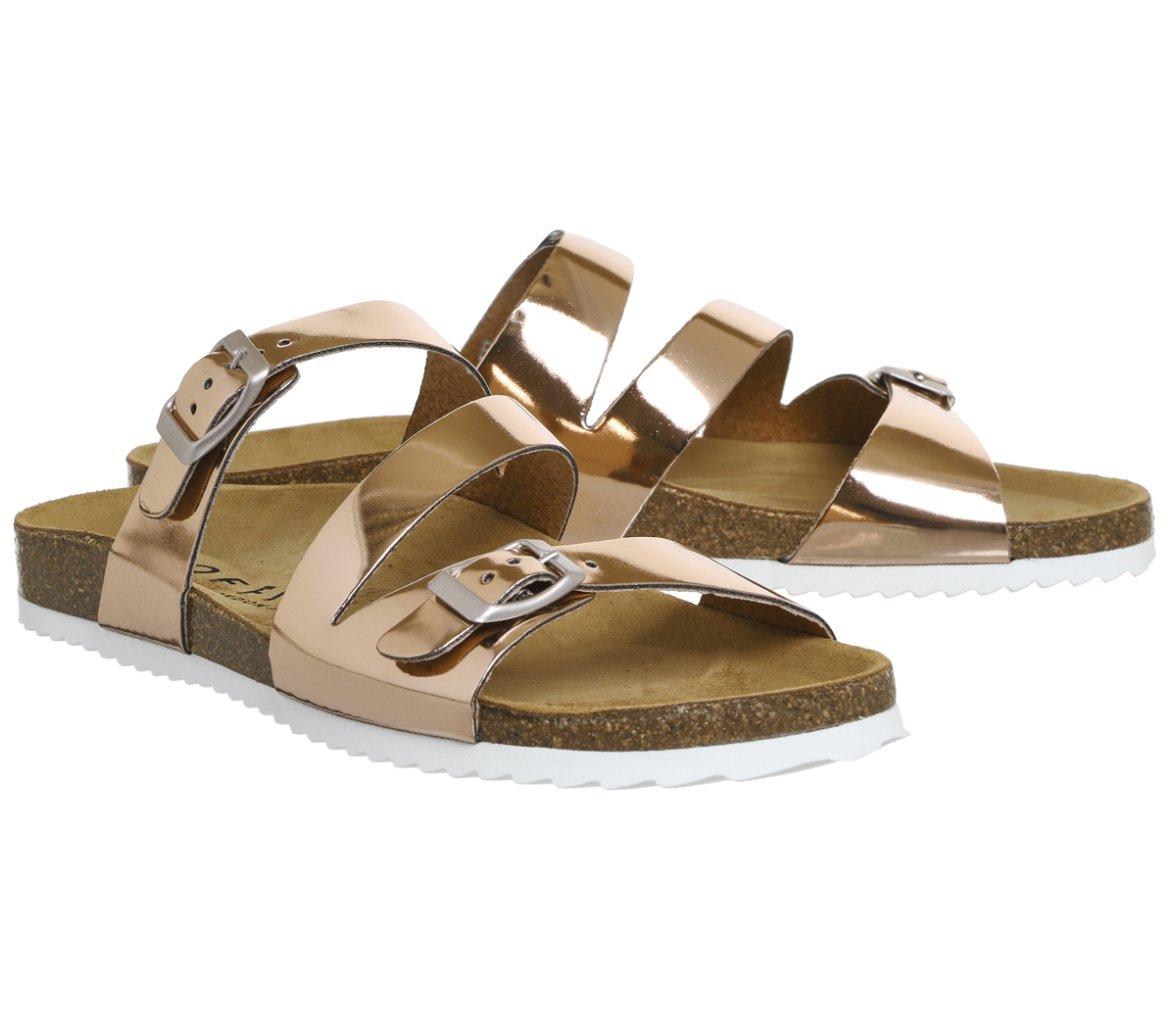 f688995e24d8 Womens OFFICE Bounty Cross Strap Footbed Rose Gold Sandals UK 3 for ...