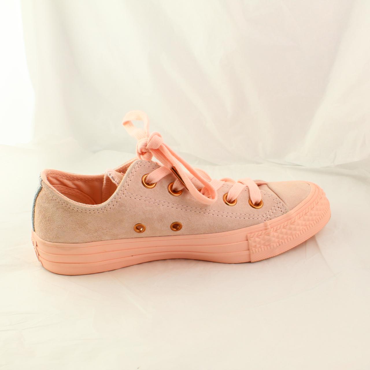 Da Donna Converse Rosa in Pelle Scamosciata Con Lacci Sneaker UK 3 EX DISPLAY