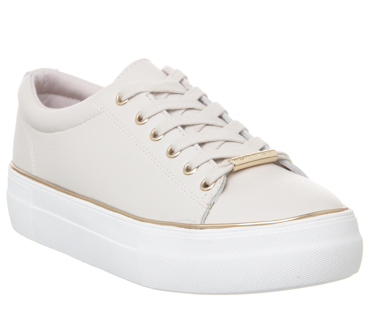Womens Office Free Flatform Trainers Nude With gold Rand Flats Flats Flats e9df0a