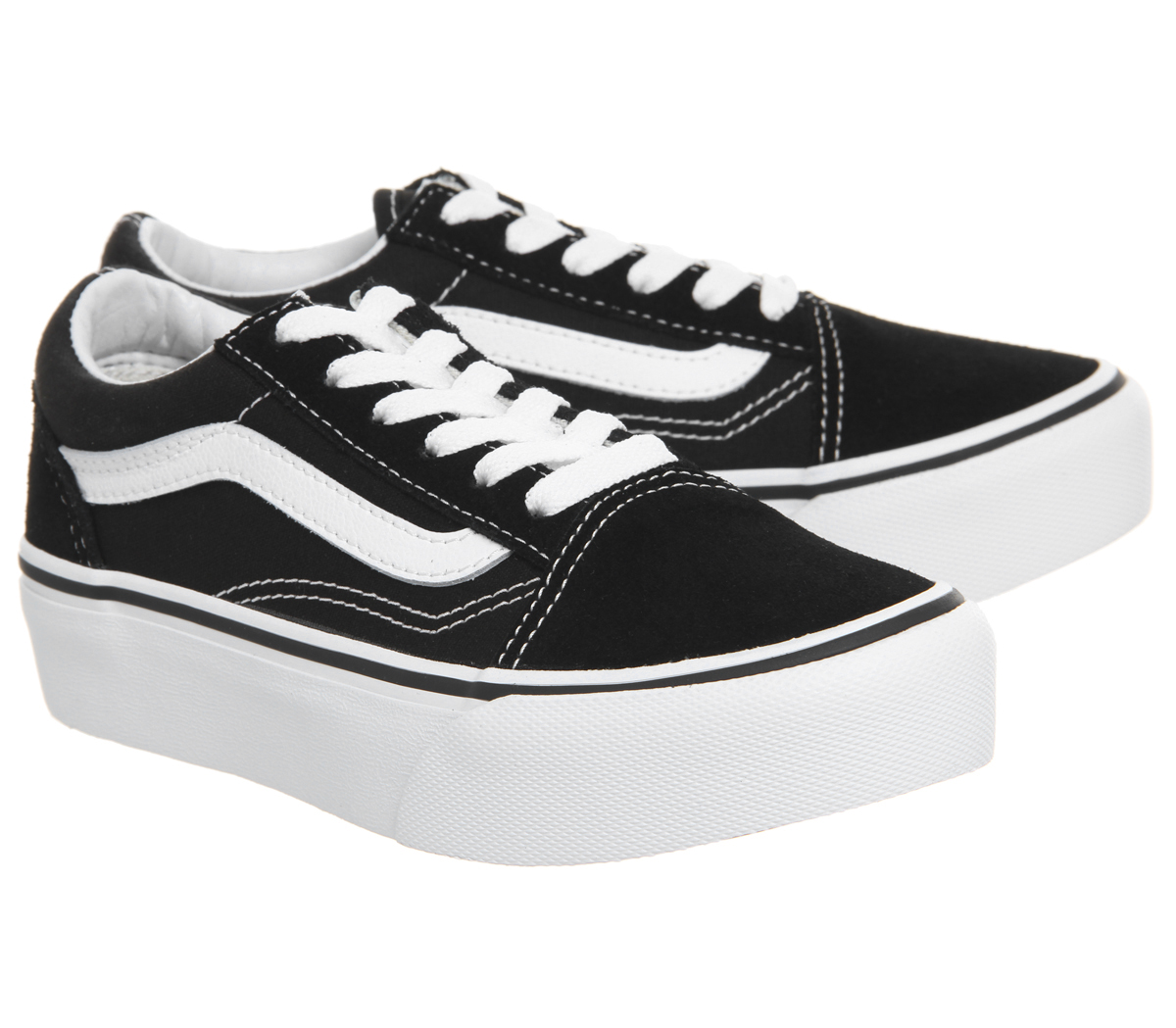 4d709725554 Kids Vans Old Skool Platform K Black White Kids