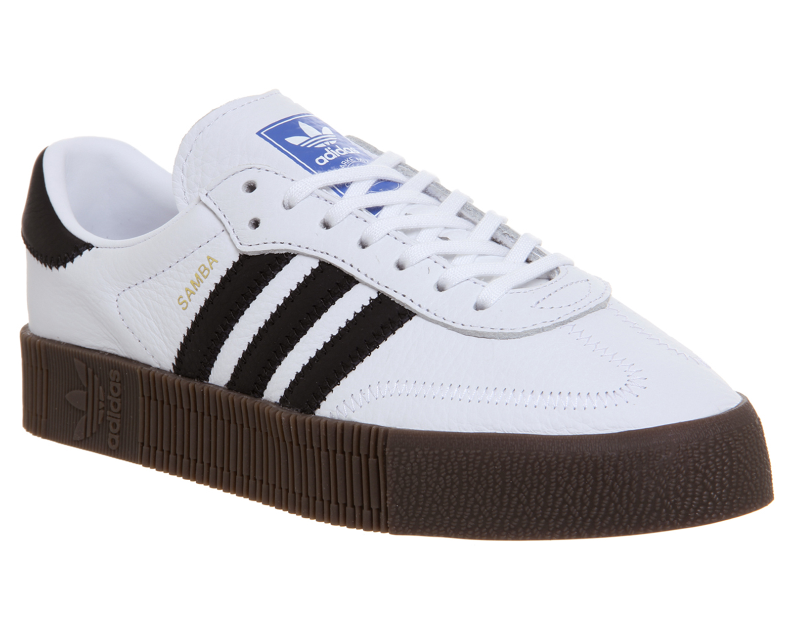 los angeles 4c7bd f98fc Sentinel Womens Adidas Samba Rose Trainers WHITE CORE BLACK GUM Trainers  Shoes