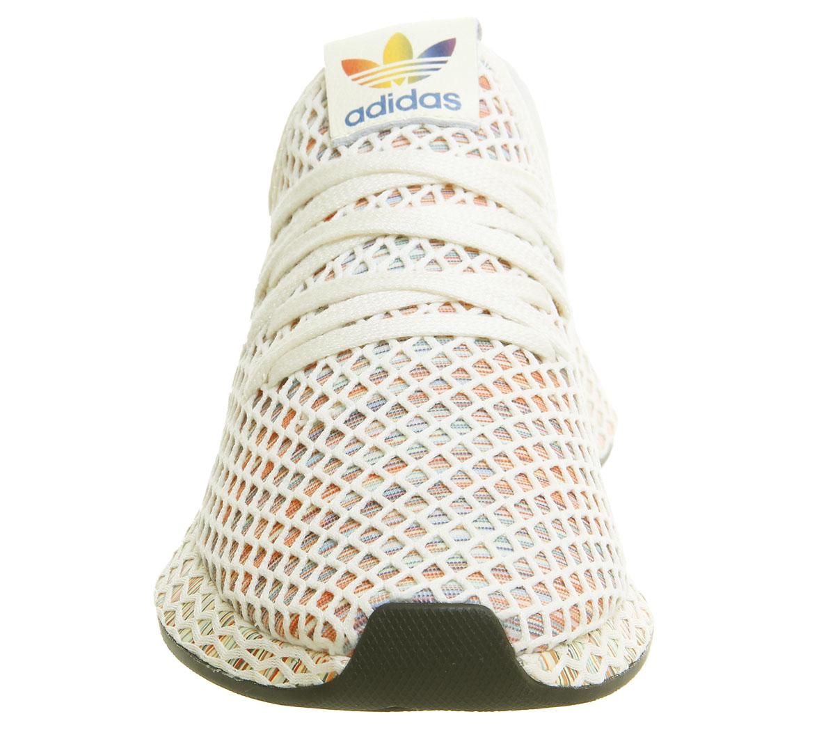 best website f29d0 e6a06 Hommes-Adidas-deerupt-Baskets-Pride-Blanc-Creme-Core-