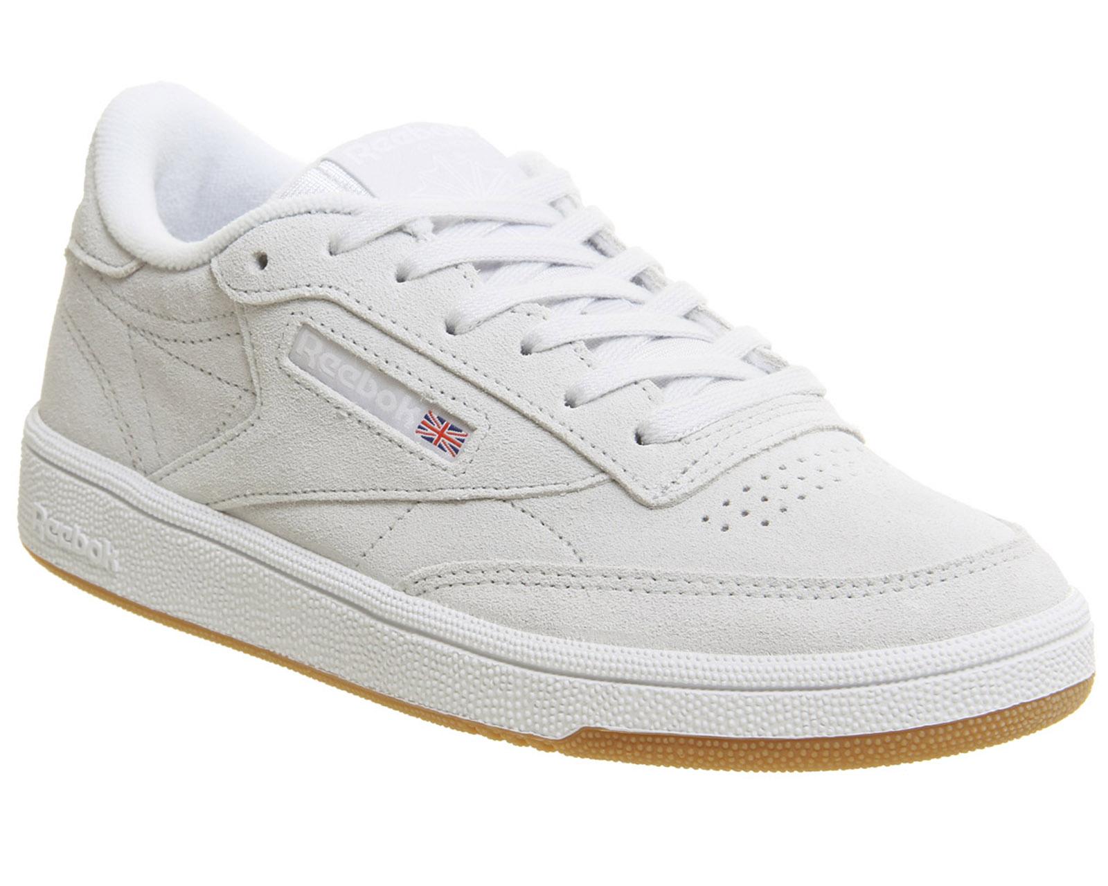 fecacd145ba Sentinel Womens Reebok Club C 85 Trainers Spirit White White Gum Trainers  Shoes
