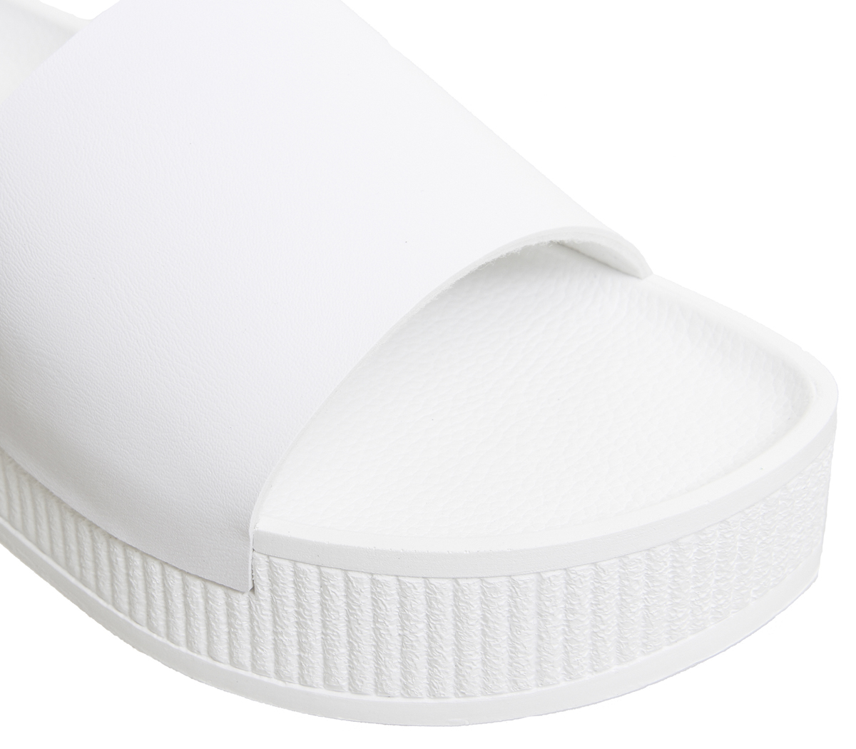 3e553df43d Womens-Office-Mushroom-Flatform-Sandals-White-Heels thumbnail 7