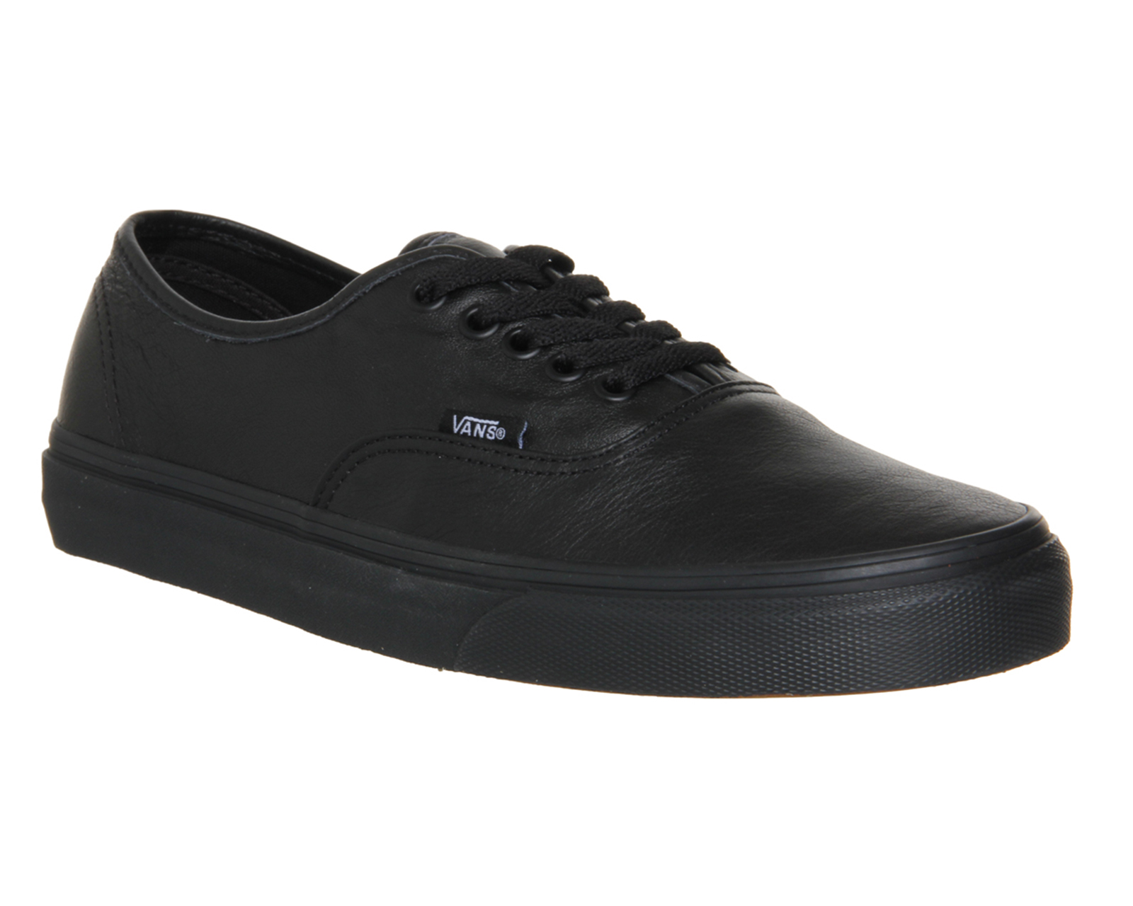 2f2ca475ffbc Sentinel Mens Vans Authentic Leather Black Mono Trainers Shoes