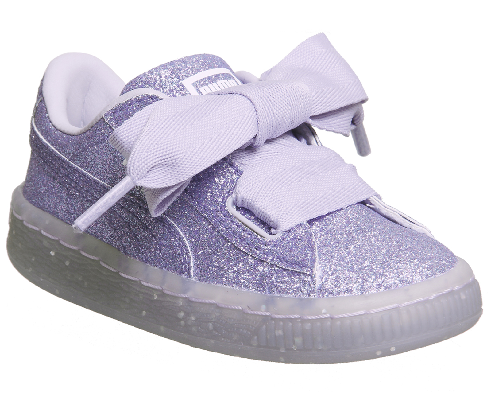 eab77bf91342 Sentinel Kids Puma Basket Heart Inf Thistle Glitter Exclusive Kids