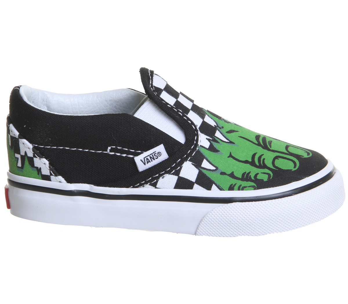 63cd83fef6bf Sentinel Kids Vans Classic Slip On Toddlers Hulk Checkerboard Marvel Kids