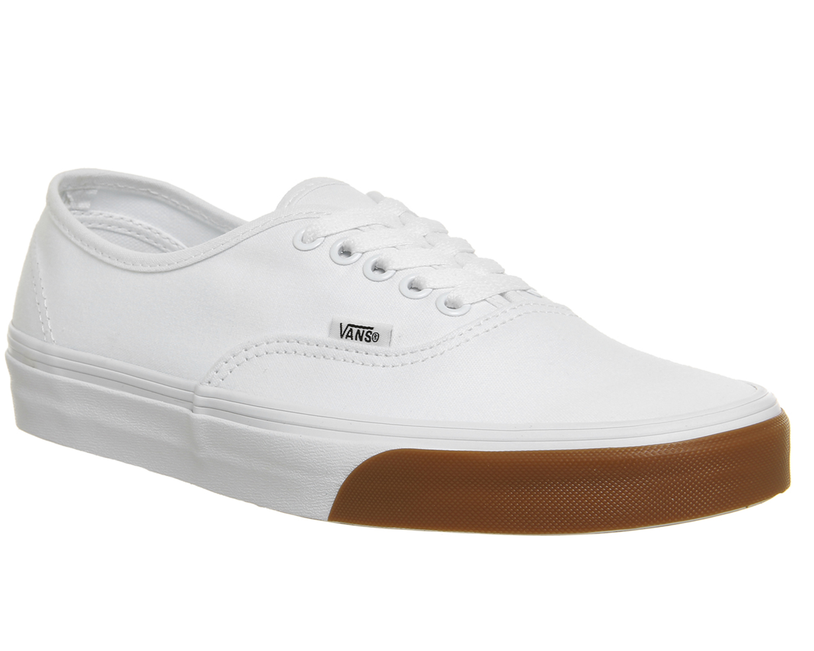 79fdb0ad66 Sentinel Thumbnail 1. Sentinel Vans Authentic Trainers True White Gum  Bumper Trainers Shoes