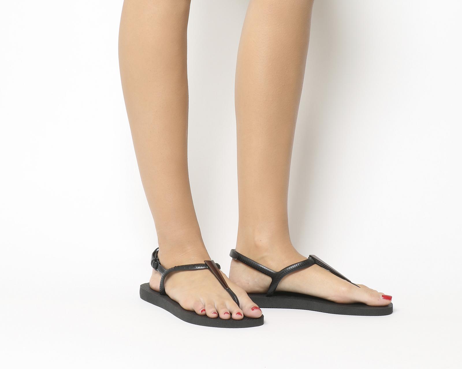 aee5d4073ad Sentinel Womens Havaianas Freedom Sl Maxi Black Sandals. Sentinel Thumbnail  2