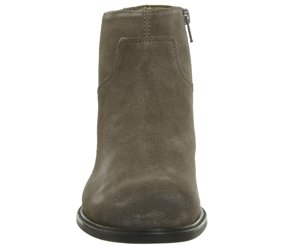 Grey Zip Suede Boots Low Womens Vagabond Meja wq8ppX