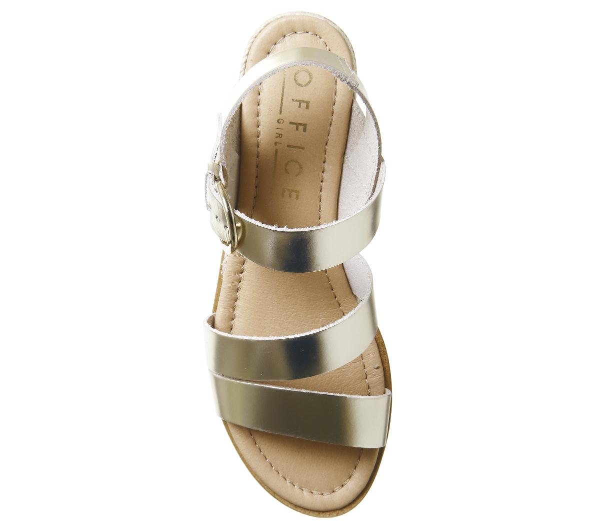 Damenschuhe Office Saltlake Ankle Strap Strap Strap Sandales GOLD LEATHER Sandales e996b8