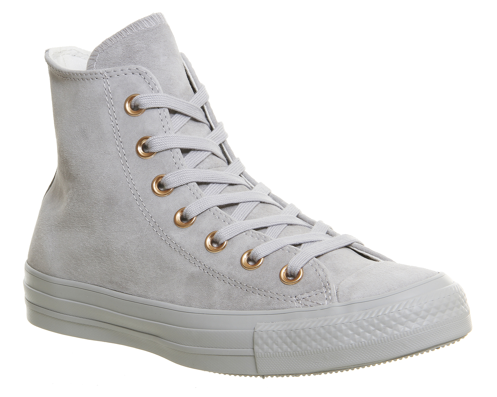 030ce48bd05a Details about Womens Converse All Star Hi Leather ASH GREY ROSE GOLD  Trainers Shoes