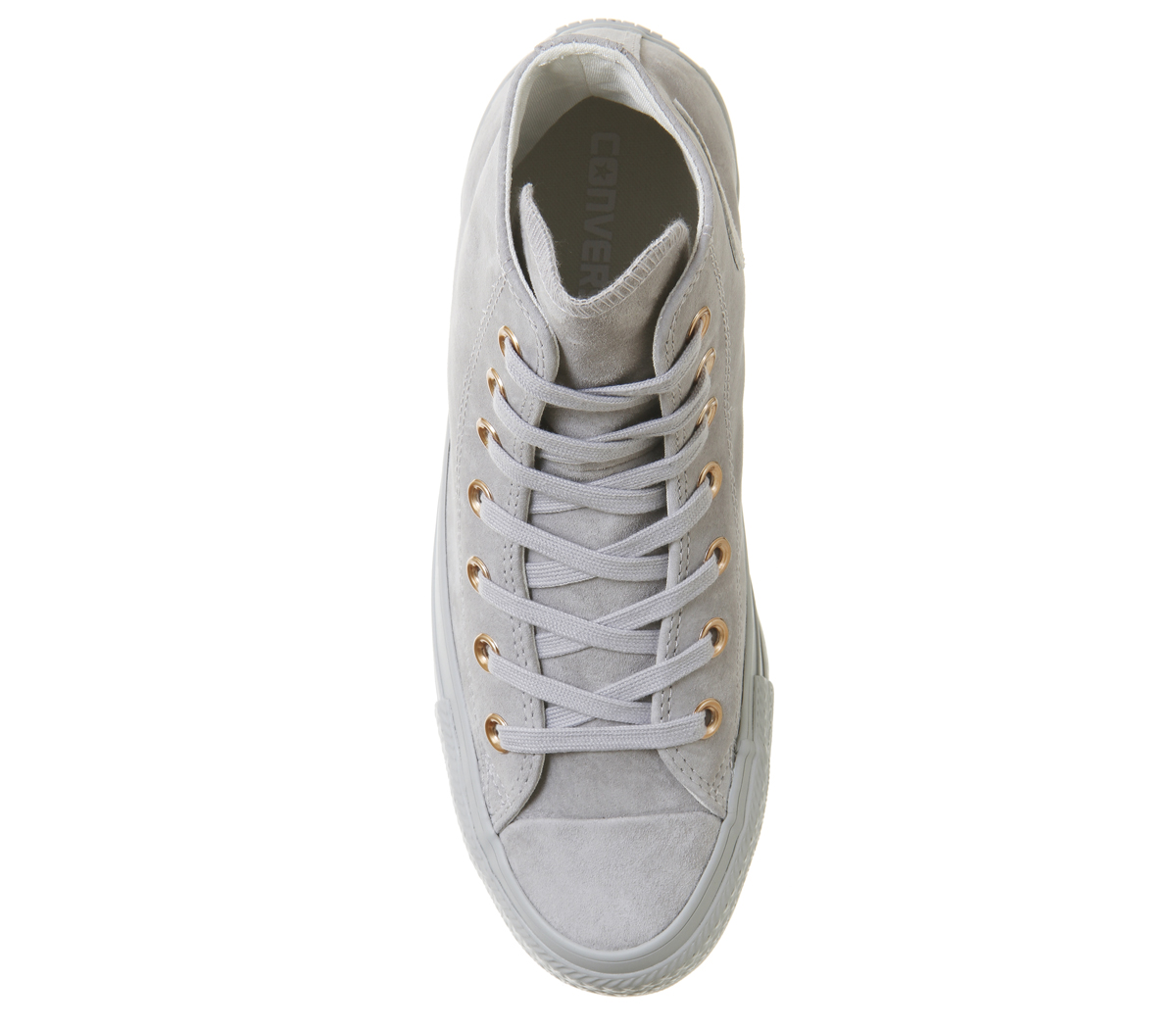 Details about Womens Converse All Star Hi Leather ASH GREY ROSE GOLD  Trainers Shoes dd1551e12