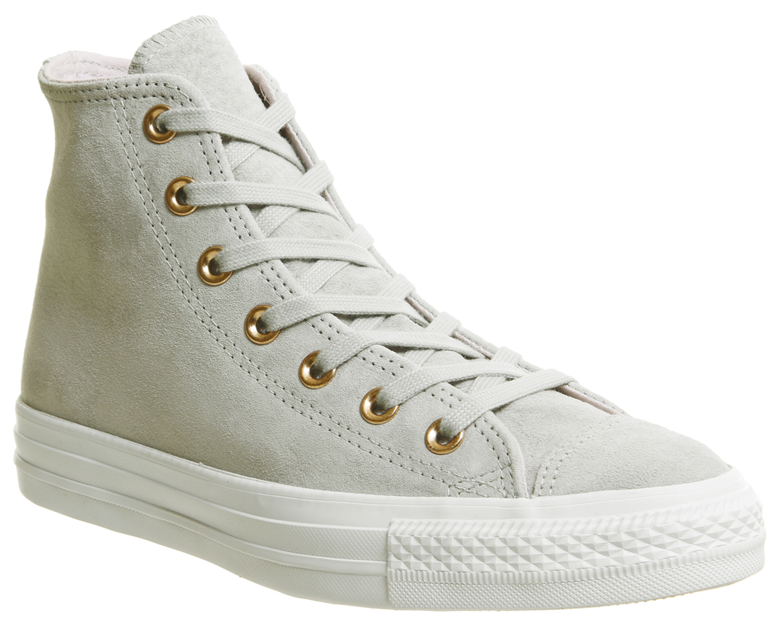 1cf883cb5a50d3 Sentinel Womens Converse All Star Hi Leather Ash Grey Barely Green White Trainers  Shoes