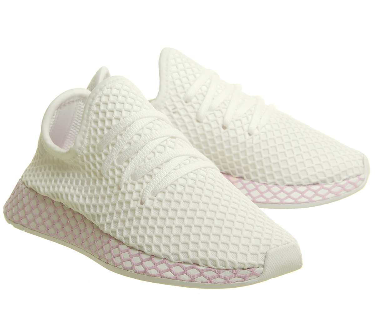 b57f4f76fe5f0 Womens Adidas Deerupt Trainers WHITE CLEAR LILAC F Trainers Shoes