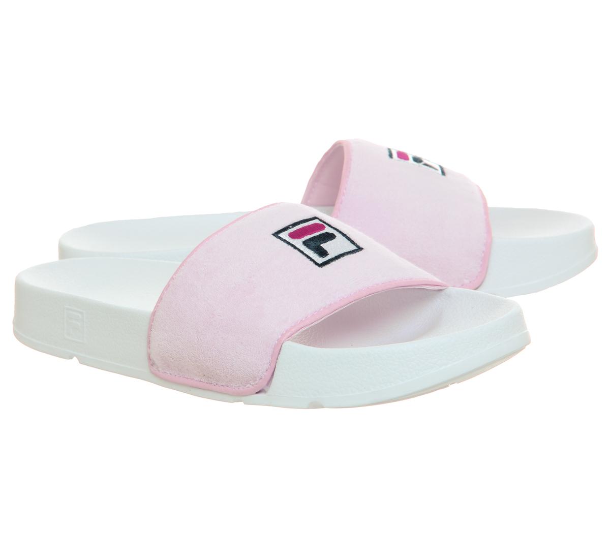 d538af3509eb Womens Fila Drifter Terry Slides Chalk Pink Desert Flower Sandals