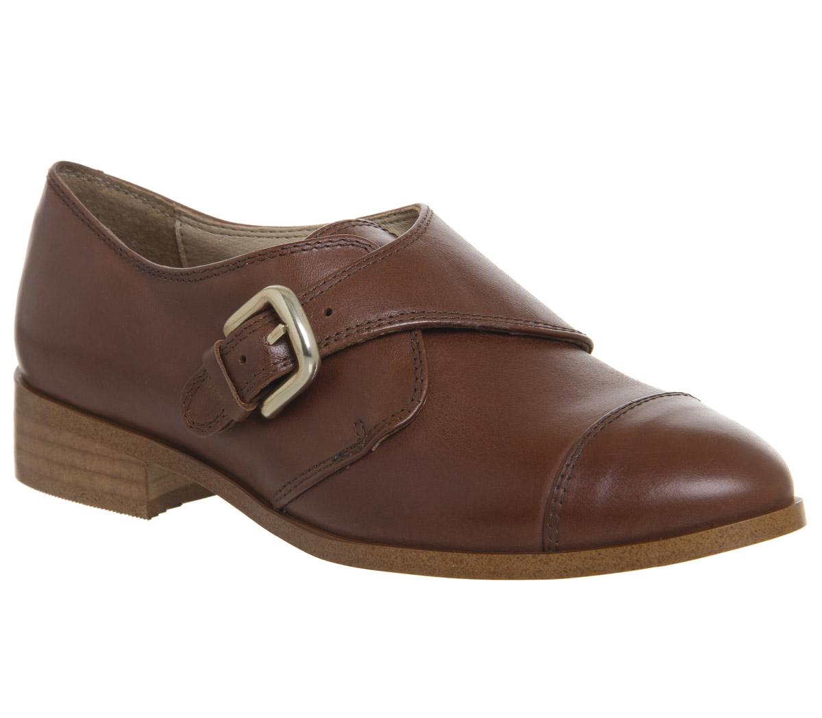 Los zapatos más populares para hombres hombres hombres y mujeres Descuento por tiempo limitado Womens Office Fader Monk Shoes TAN LEATHER Flats 086d62