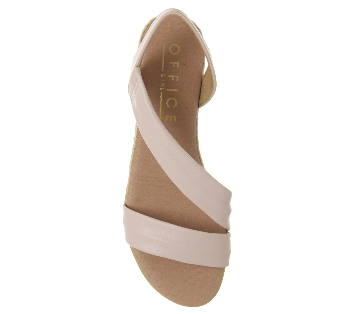 Heidi Espadrille Nude Office Womens Sandals Leather Tczqwpc58S