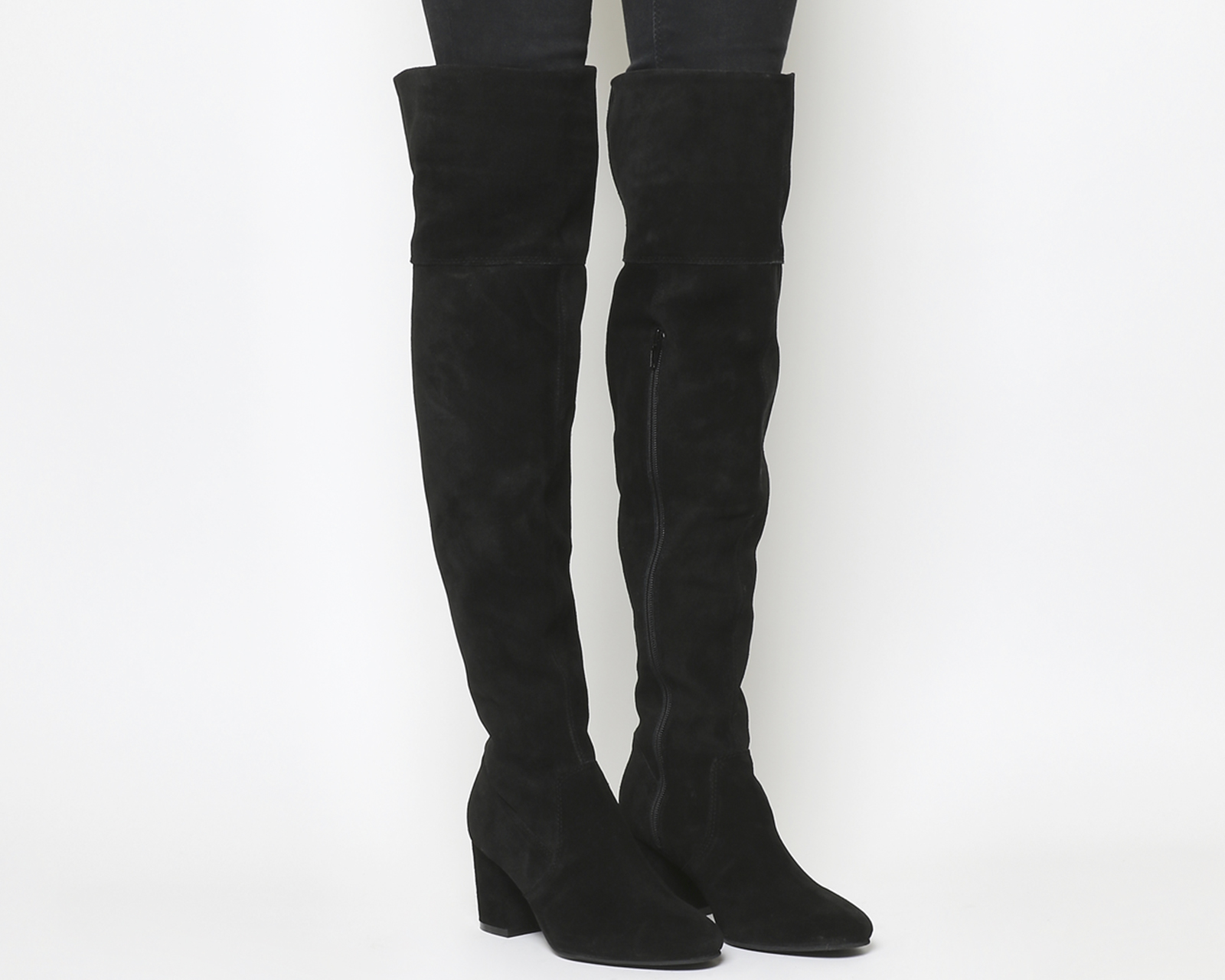 Womens Office Krissy Over The Knee Boots Boots Boots BLACK SUEDE Boots a1c9e0
