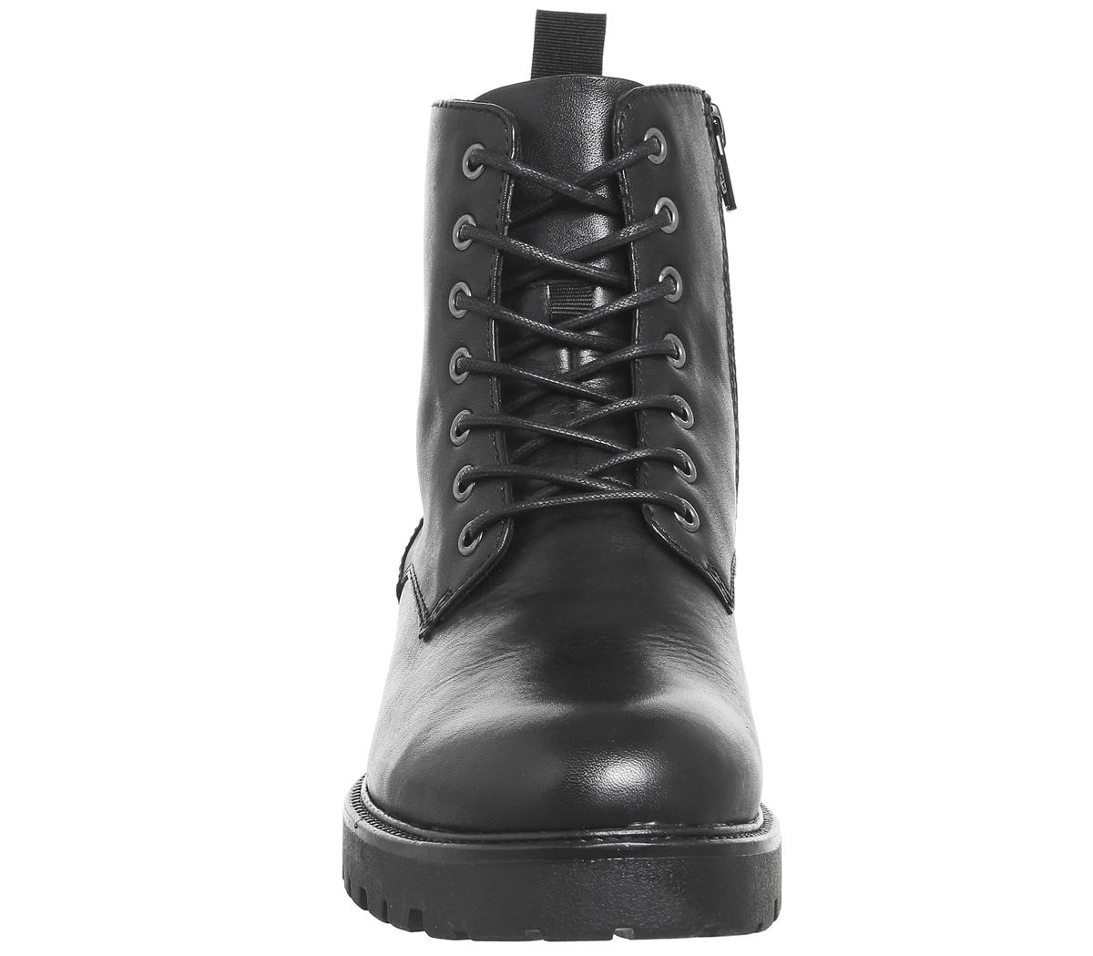 0194574e156 Details about Womens Vagabond Kenova Lace Boots Black Leather Boots