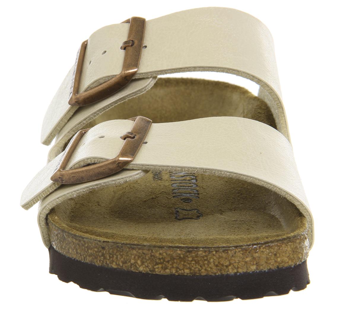 441e059db5e66 SENTINEL Womens Birkenstock Arizona due sandali PEARL grazioso sandali  bianchi