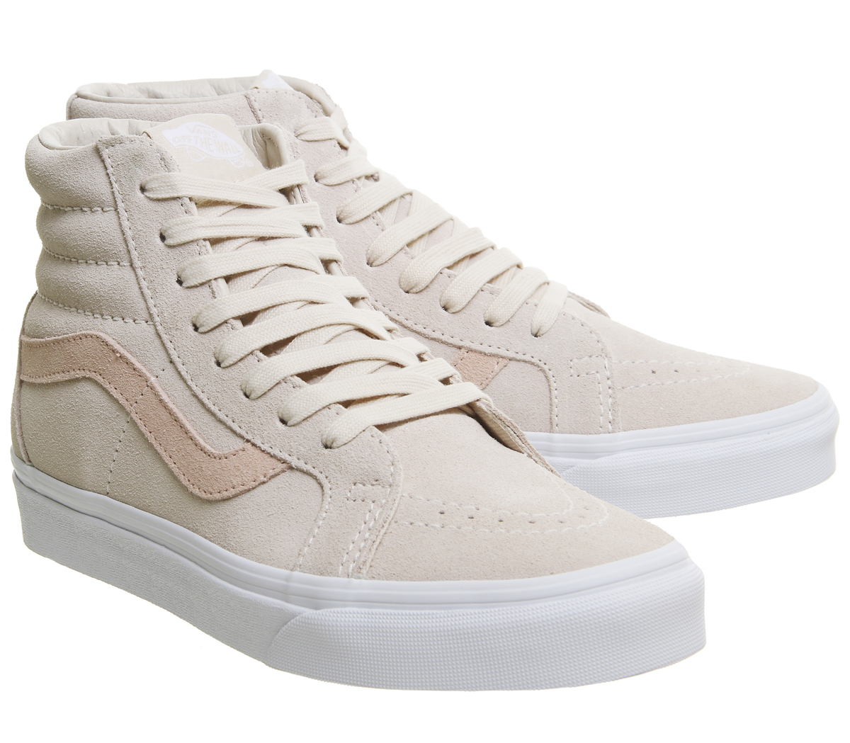 80a8f5602433 Womens Vans Sk8 Hi Trainers LIGHT PINK DARK PINK Trainers Shoes
