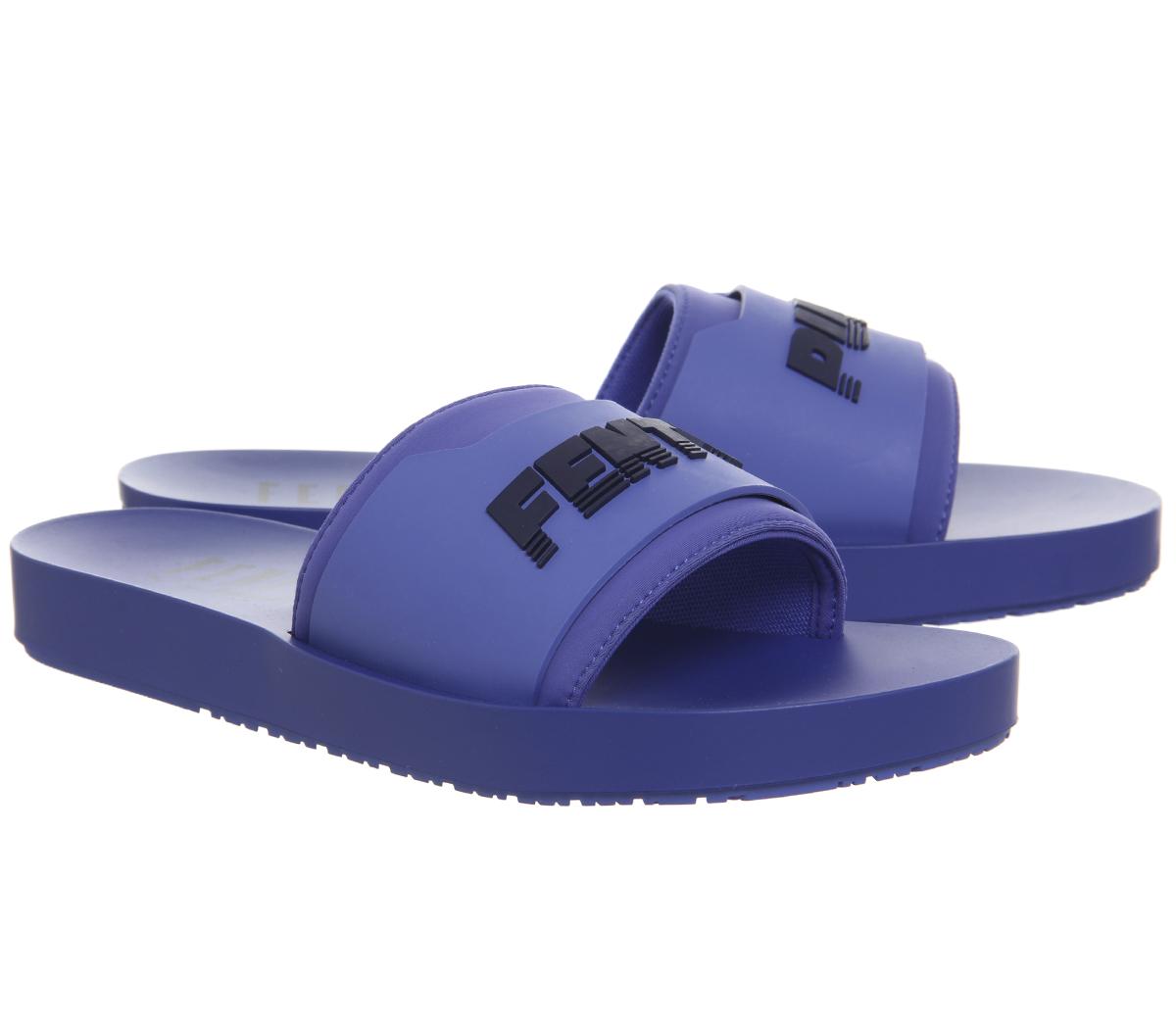 edf2548cd5a9a SENTINEL Puma Womens Fenty diapositive SURF abbagliante blu sandali neri