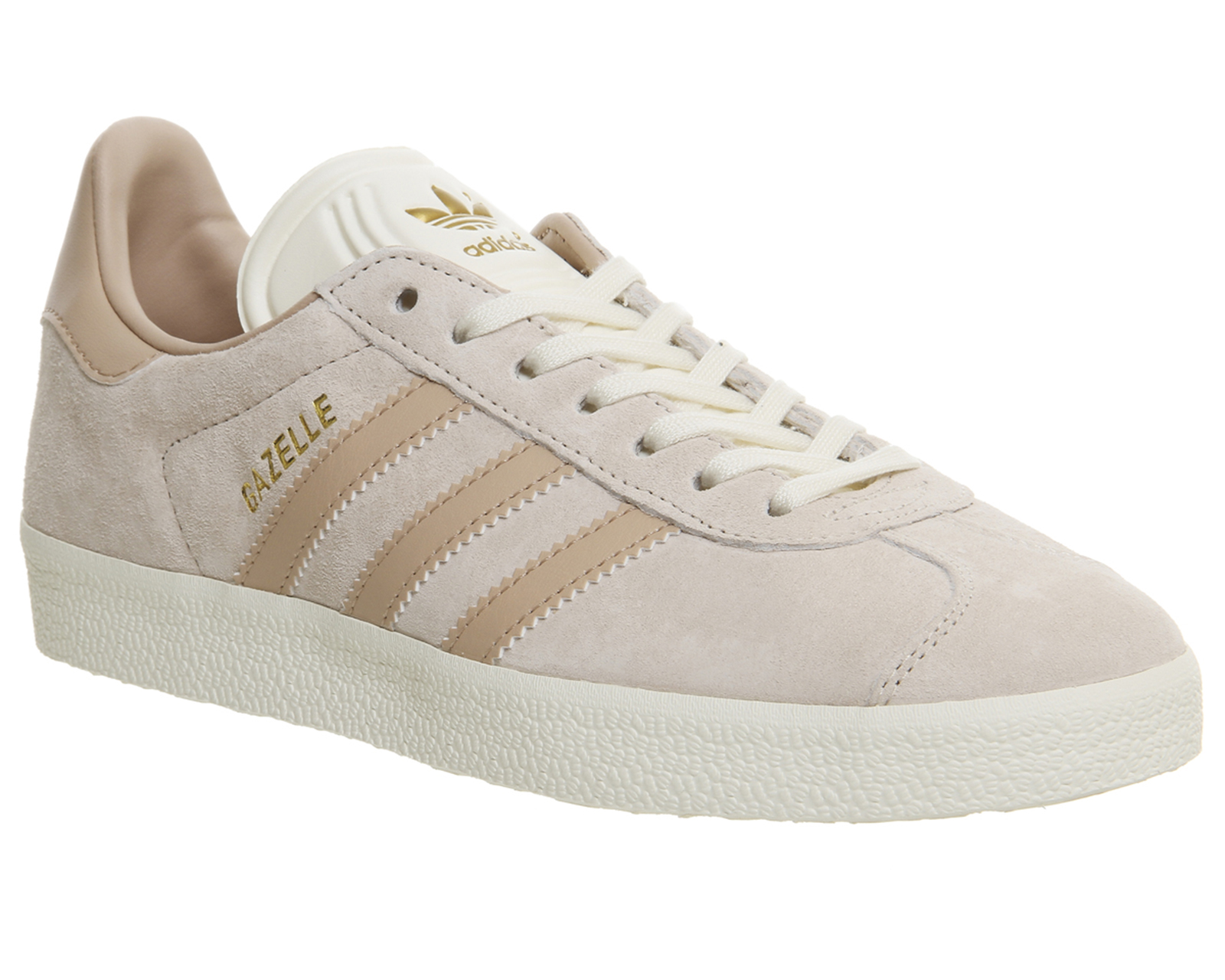 womens adidas gazelle trainers linen dust pearl cream. Black Bedroom Furniture Sets. Home Design Ideas