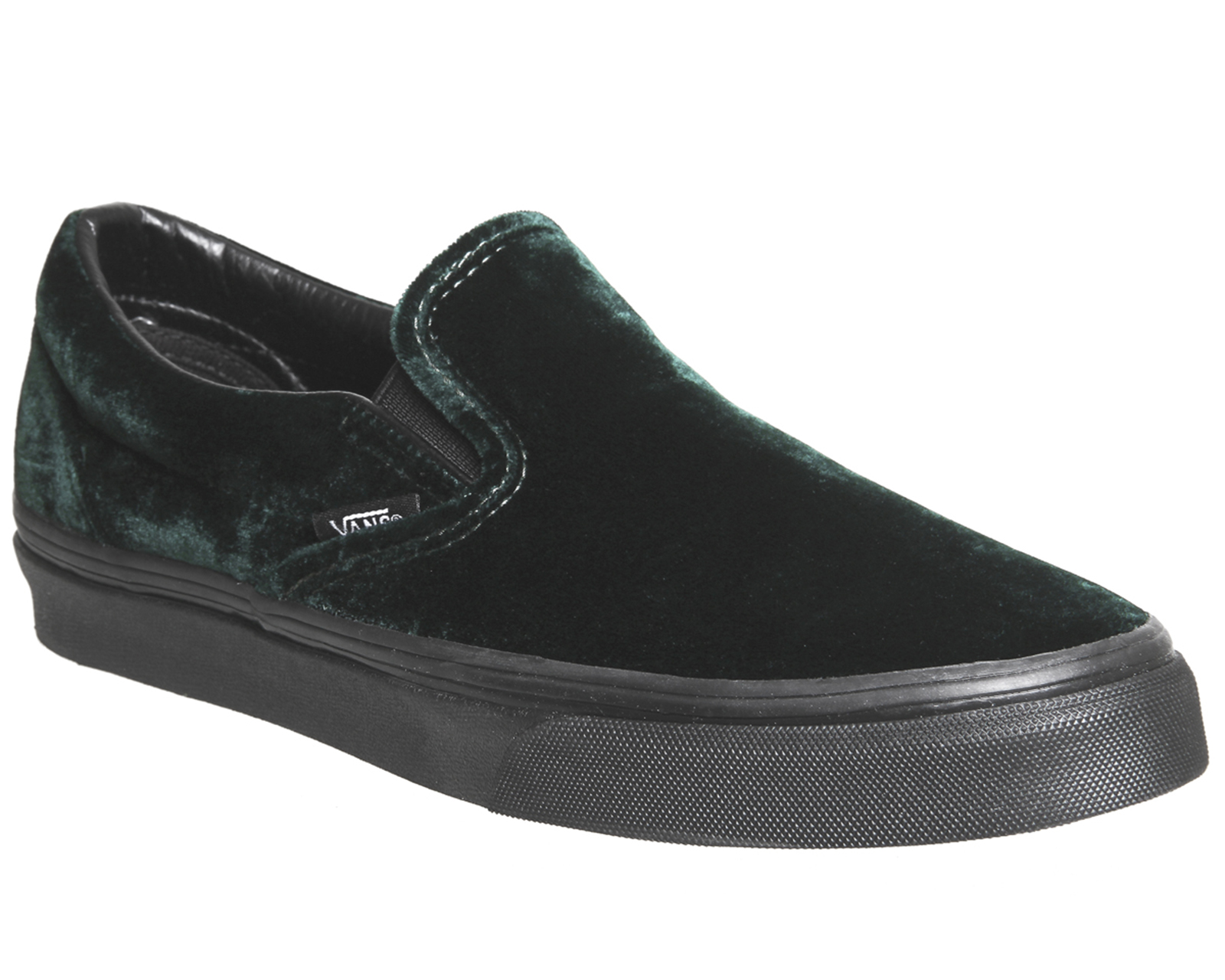 ad69a4a09470 Sentinel Mens Vans Vans Classic Slip On VELVET GREEN BLACK Trainers Shoes