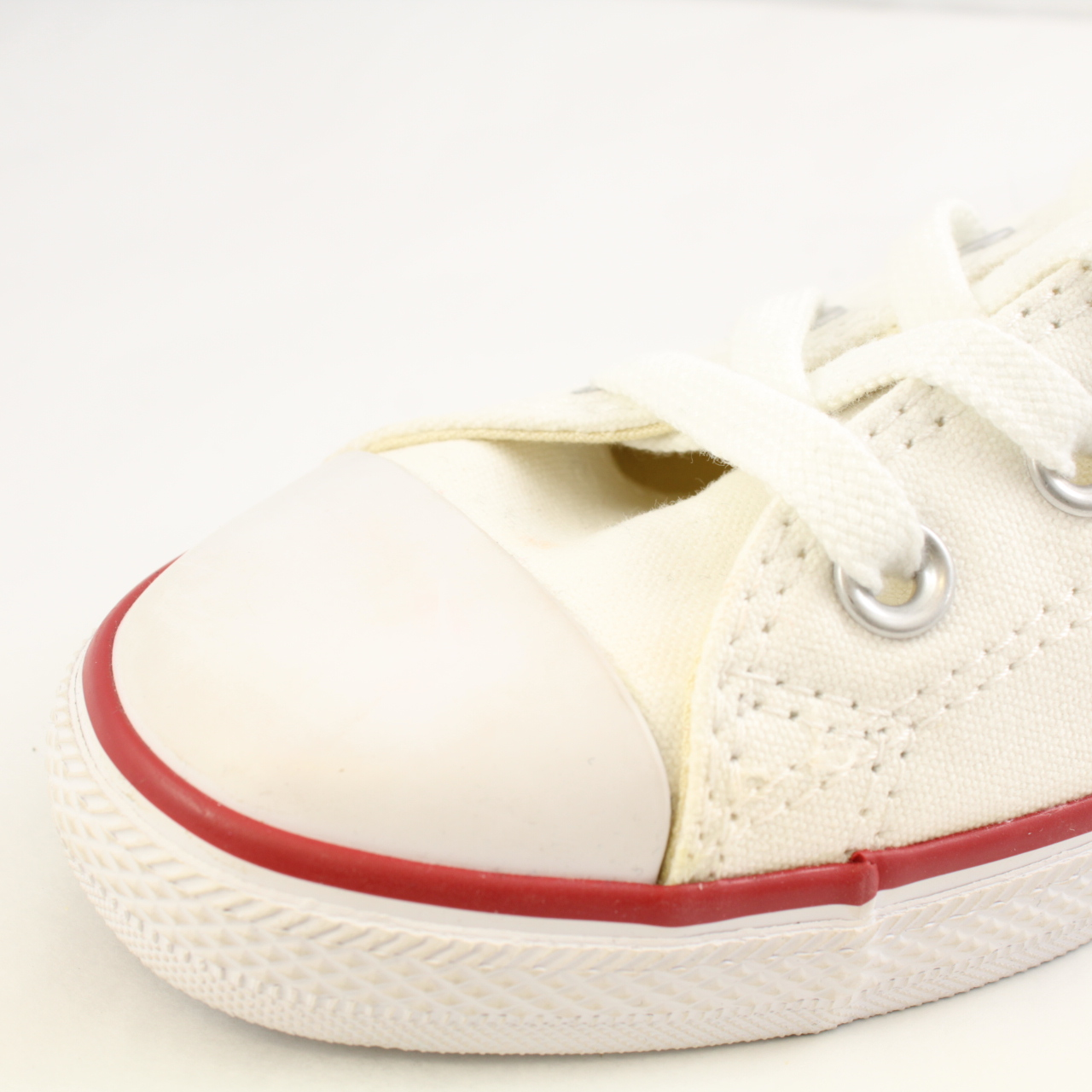 8de25b51839 ... Sentinel Womens Converse White Textile Lace Up Trainers Size UK 7 Ex  Display low price sale ...
