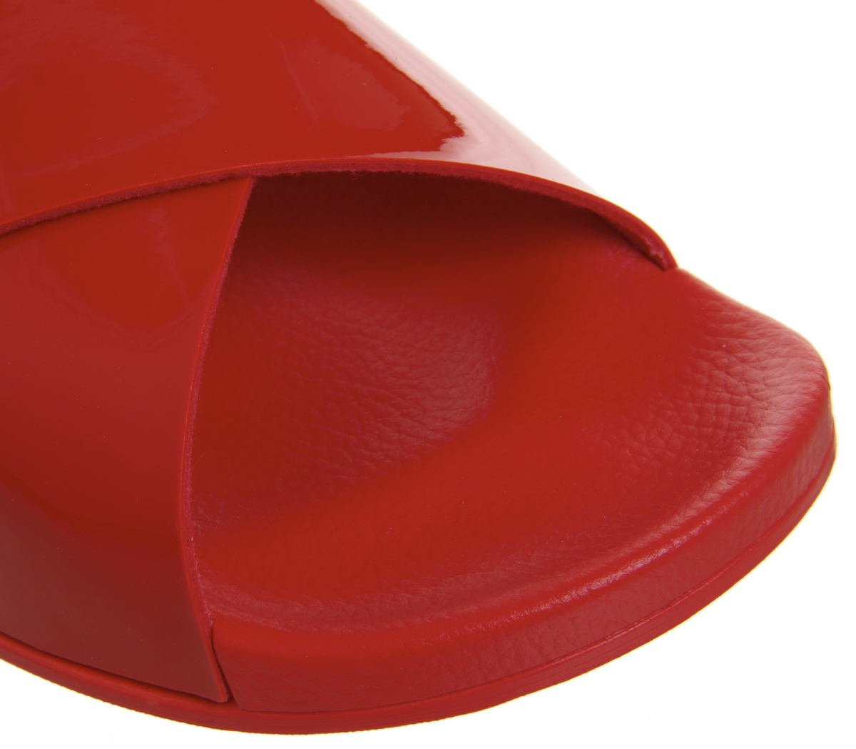 40929a46b Womens Office Splash Cross Strap Colour Drench Slides Red Sandals