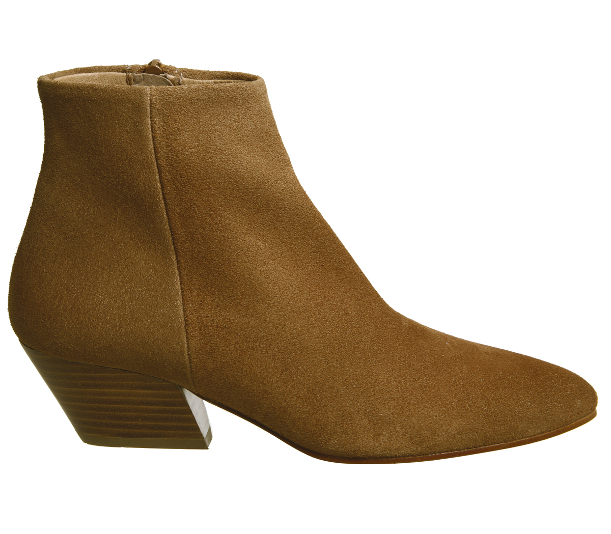 09bcc1766e Sentinel Womens Office Atone Western Block Heel Boots Tan Suede Boots