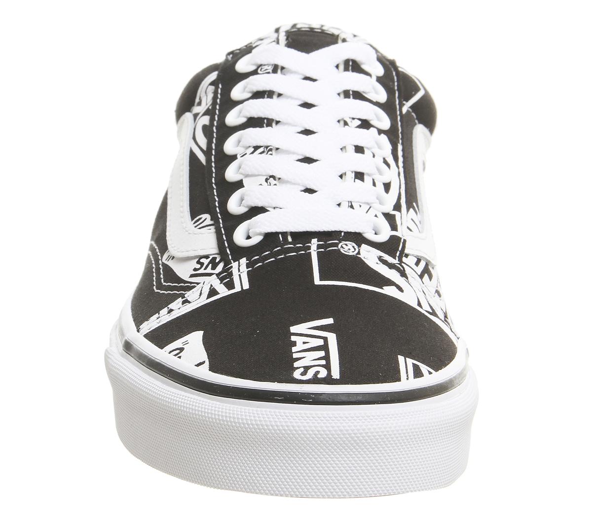 5fcd14700 CENTINELA Formadores de hombres Vans Old Skool negro verdadero LOGO blanco  zapatillas zapatos