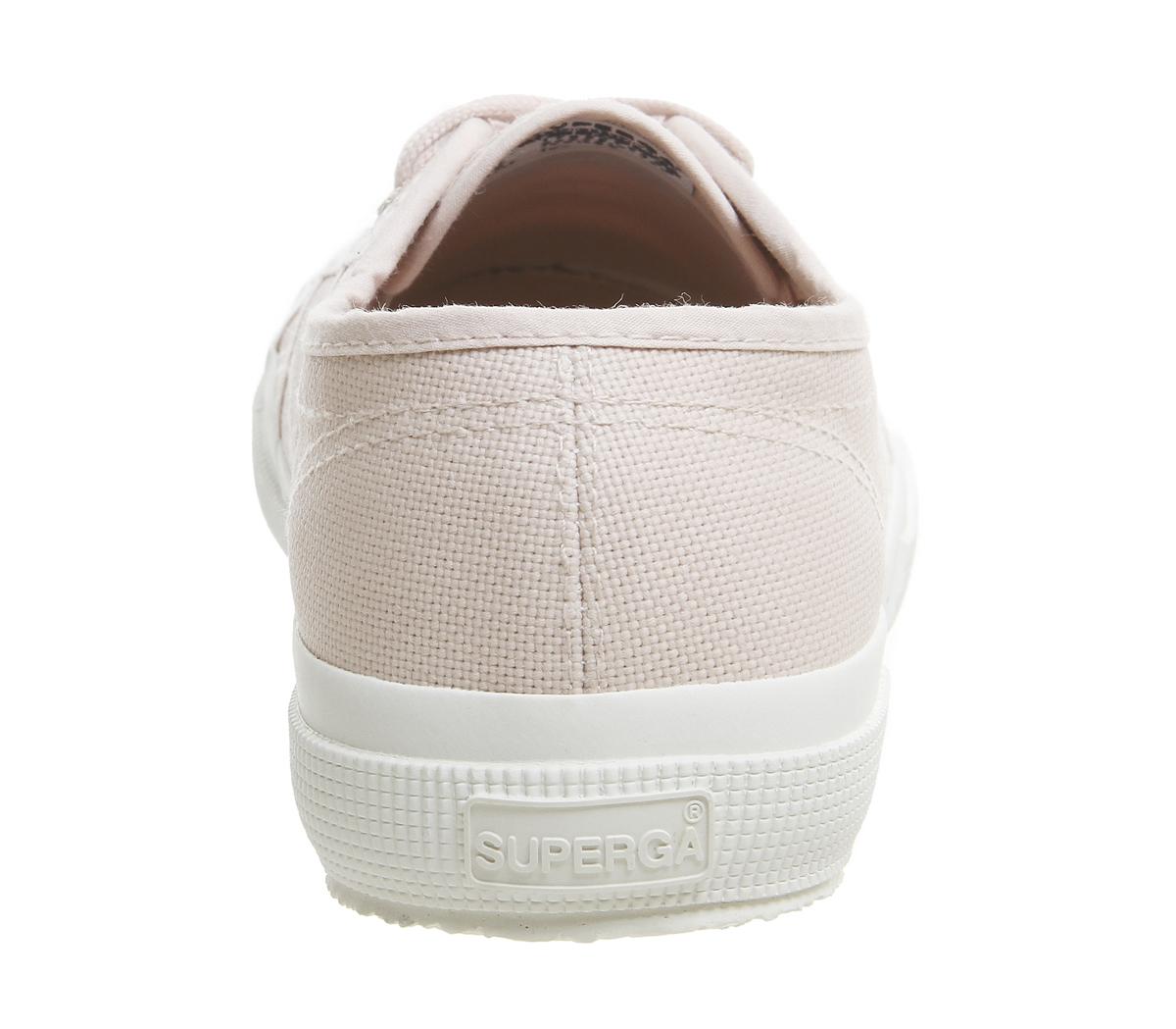 450be0abb47d4 SENTINEL Womens Superga 2750 formatori pelle bianco completo formatori scarpe  rosa