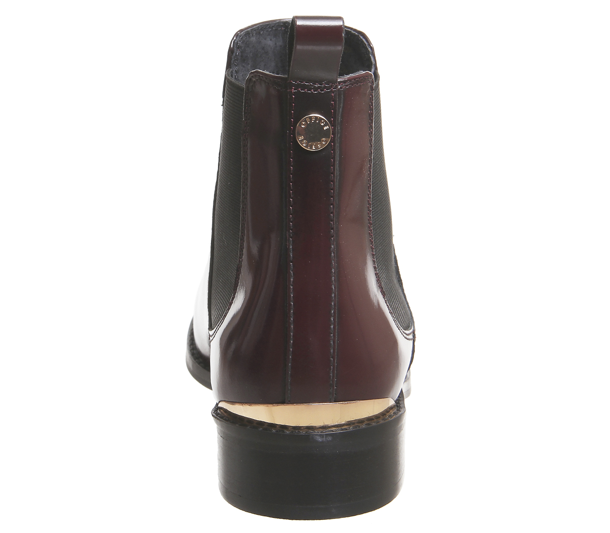 Womens Office Bramble Chelsea Chelsea Bramble Boots BURGUNDY BOX LEATHER METAL HARDWARE Boots fb52a7