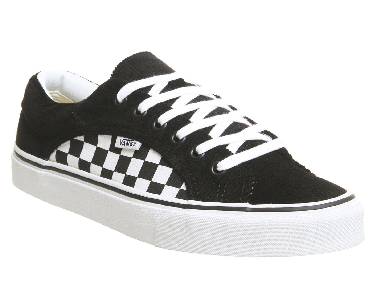 94f950d2f3f9ef Sentinel Vans Lampin Trainers Black True White Checkerboard Cord Trainers  Shoes