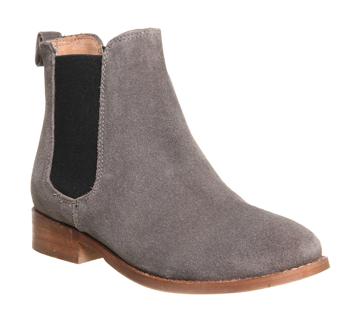 43333ddd795d7 Sentinel Womens OFFICE Grey Suede Pull On Ankle Boots Size UK 4  Ex-Display
