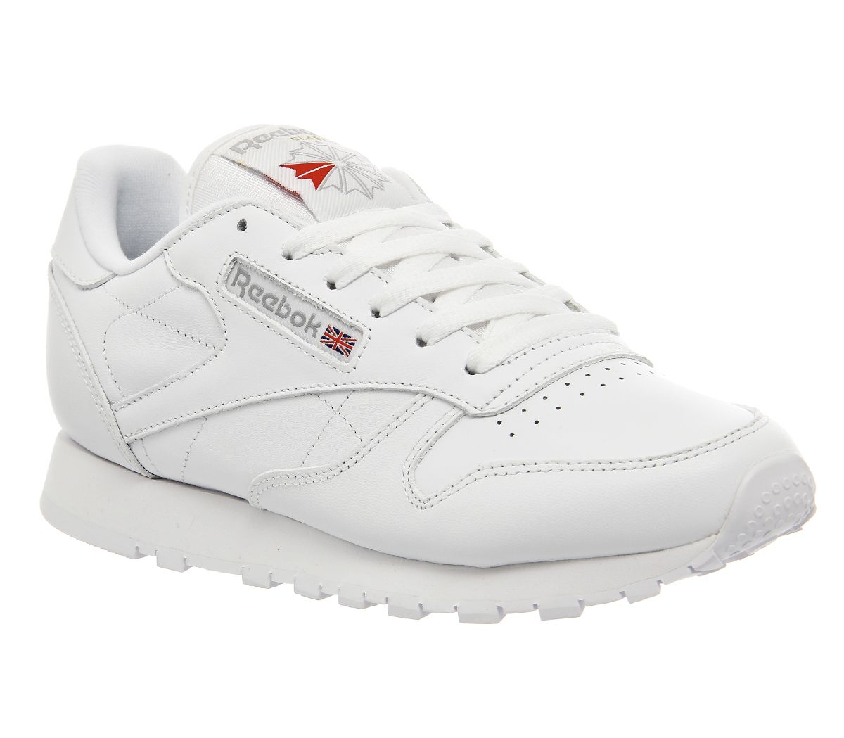 6e69b87229646 Sentinel Womens Reebok White Leather Lace Up Trainers Size UK 6  Ex-Display