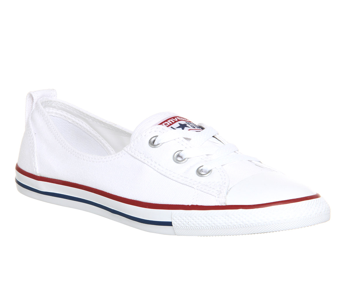 Sentinel Womens Converse White Textile Lace Up Trainers Size UK 4   Ex-Display 66c0eebf2243