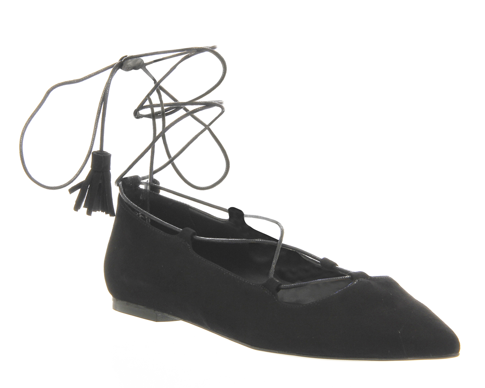 27998c19cf1 Sentinel Womens Office Black Suede Lace Up Flats Size UK 4  Ex-Display