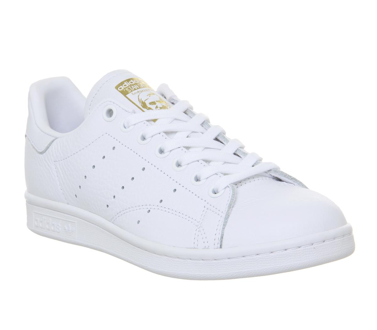 Womens Adidas White Leather Lace Up Trainers Size UK 5 *Ex